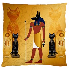 Anubis, Ancient Egyptian God Of The Dead Rituals  Large Flano Cushion Cases (One Side)