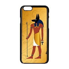 Anubis, Ancient Egyptian God Of The Dead Rituals  Apple iPhone 6 Black Enamel Case