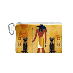 Anubis, Ancient Egyptian God Of The Dead Rituals  Canvas Cosmetic Bag (S)