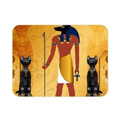 Anubis, Ancient Egyptian God Of The Dead Rituals  Double Sided Flano Blanket (Mini)