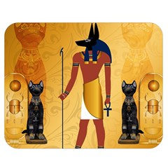 Anubis, Ancient Egyptian God Of The Dead Rituals  Double Sided Flano Blanket (Medium)