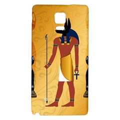 Anubis, Ancient Egyptian God Of The Dead Rituals  Galaxy Note 4 Back Case