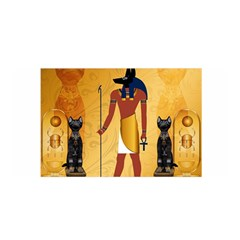 Anubis, Ancient Egyptian God Of The Dead Rituals  Satin Wrap