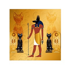Anubis, Ancient Egyptian God Of The Dead Rituals  Small Satin Scarf (Square)