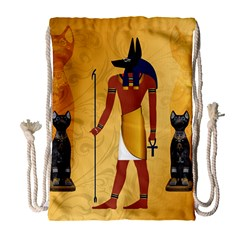 Anubis, Ancient Egyptian God Of The Dead Rituals  Drawstring Bag (large)