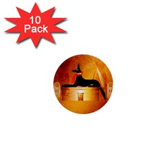 Anubis, Ancient Egyptian God Of The Dead Rituals  1  Mini Buttons (10 pack)