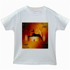 Anubis, Ancient Egyptian God Of The Dead Rituals  Kids White T Shirts