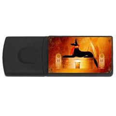 Anubis, Ancient Egyptian God Of The Dead Rituals  USB Flash Drive Rectangular (1 GB)