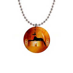 Anubis, Ancient Egyptian God Of The Dead Rituals  Button Necklaces