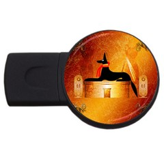 Anubis, Ancient Egyptian God Of The Dead Rituals  USB Flash Drive Round (4 GB)