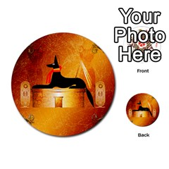 Anubis, Ancient Egyptian God Of The Dead Rituals  Multi-purpose Cards (Round)