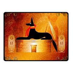 Anubis, Ancient Egyptian God Of The Dead Rituals  Fleece Blanket (Small)
