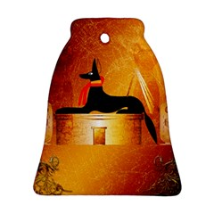 Anubis, Ancient Egyptian God Of The Dead Rituals  Bell Ornament (2 Sides)
