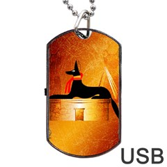 Anubis, Ancient Egyptian God Of The Dead Rituals  Dog Tag USB Flash (One Side)