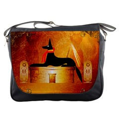 Anubis, Ancient Egyptian God Of The Dead Rituals  Messenger Bags