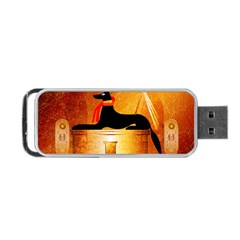 Anubis, Ancient Egyptian God Of The Dead Rituals  Portable USB Flash (One Side)