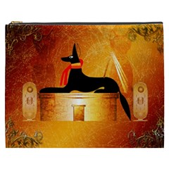 Anubis, Ancient Egyptian God Of The Dead Rituals  Cosmetic Bag (XXXL)
