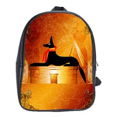 Anubis, Ancient Egyptian God Of The Dead Rituals  School Bags (XL)