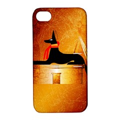 Anubis, Ancient Egyptian God Of The Dead Rituals  Apple iPhone 4/4S Hardshell Case with Stand