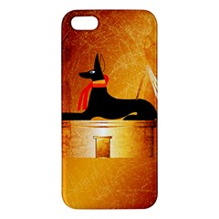 Anubis, Ancient Egyptian God Of The Dead Rituals  Apple iPhone 5 Premium Hardshell Case