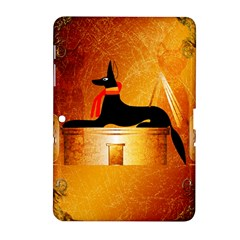 Anubis, Ancient Egyptian God Of The Dead Rituals  Samsung Galaxy Tab 2 (10.1 ) P5100 Hardshell Case