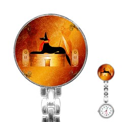 Anubis, Ancient Egyptian God Of The Dead Rituals  Stainless Steel Nurses Watches