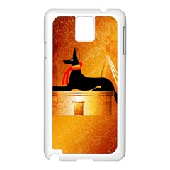 Anubis, Ancient Egyptian God Of The Dead Rituals  Samsung Galaxy Note 3 N9005 Case (White)