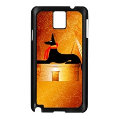 Anubis, Ancient Egyptian God Of The Dead Rituals  Samsung Galaxy Note 3 N9005 Case (Black)