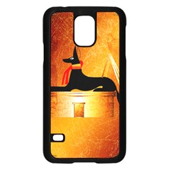 Anubis, Ancient Egyptian God Of The Dead Rituals  Samsung Galaxy S5 Case (Black)