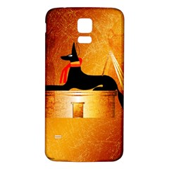 Anubis, Ancient Egyptian God Of The Dead Rituals  Samsung Galaxy S5 Back Case (White)