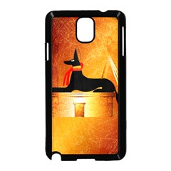 Anubis, Ancient Egyptian God Of The Dead Rituals  Samsung Galaxy Note 3 Neo Hardshell Case (Black)