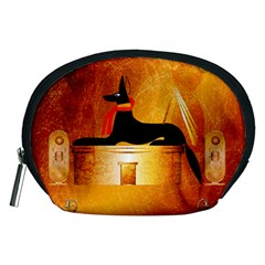 Anubis, Ancient Egyptian God Of The Dead Rituals  Accessory Pouches (medium)