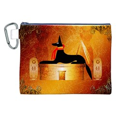 Anubis, Ancient Egyptian God Of The Dead Rituals  Canvas Cosmetic Bag (XXL)