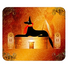 Anubis, Ancient Egyptian God Of The Dead Rituals  Double Sided Flano Blanket (small)