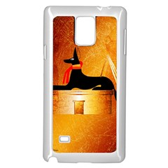 Anubis, Ancient Egyptian God Of The Dead Rituals  Samsung Galaxy Note 4 Case (White)