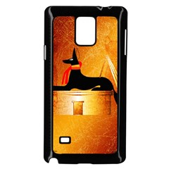 Anubis, Ancient Egyptian God Of The Dead Rituals  Samsung Galaxy Note 4 Case (Black)