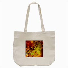 Glowing Colorful Flowers Tote Bag (Cream)