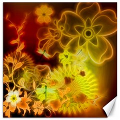 Glowing Colorful Flowers Canvas 16  x 16