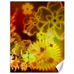 Glowing Colorful Flowers Canvas 36  X 48