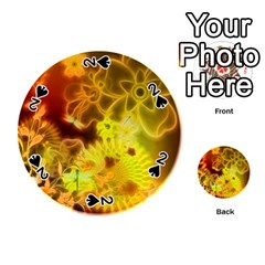 Glowing Colorful Flowers Playing Cards 54 (Round)