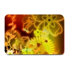 Glowing Colorful Flowers Plate Mats