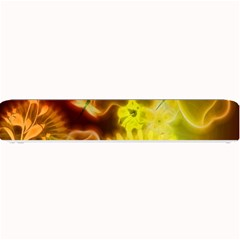 Glowing Colorful Flowers Small Bar Mats