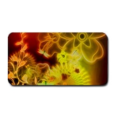 Glowing Colorful Flowers Medium Bar Mats