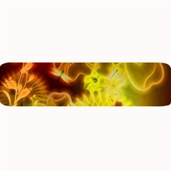 Glowing Colorful Flowers Large Bar Mats