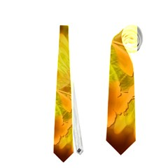 Glowing Colorful Flowers Neckties (one Side)