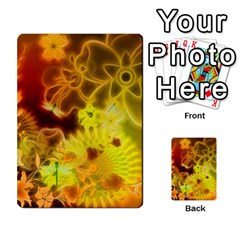 Glowing Colorful Flowers Multi-purpose Cards (Rectangle)