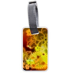 Glowing Colorful Flowers Luggage Tags (Two Sides)