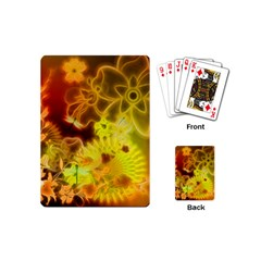 Glowing Colorful Flowers Playing Cards (Mini)