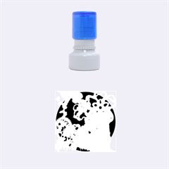 Glowing Colorful Flowers Rubber Round Stamps (Small)