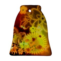 Glowing Colorful Flowers Bell Ornament (2 Sides)